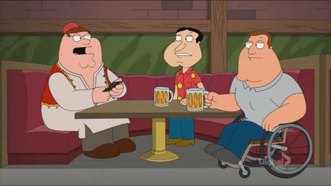 Family Guy accidentally detonates two bombs with cell phone