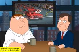 Family Guy wins Boston Marathon by killing runners