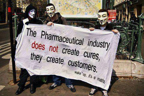 Big Pharma does not create cures, they create customers.