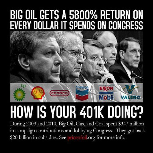 Big Oil Gets a 5800 Percent Return on Dollars Spent on Congress