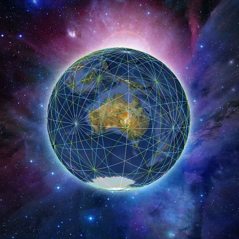 Ley Line Energy Grid Around Planet Earth