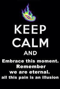 Keep Calm and Embrace This Moment ~ Remember, We Are Eternal, and This Pain Is an Illusion
