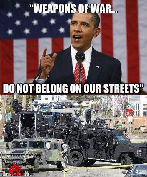 Obama - Weapons of War Do Not Belong On Our Streets -- Armored Tanks