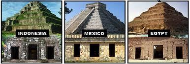 Similar Pyramid Architecture - Indonesia - Mexico - Egypt