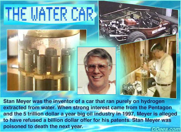 Stan Meyers Water Car -- Wouldnt Sell -- Poisoned