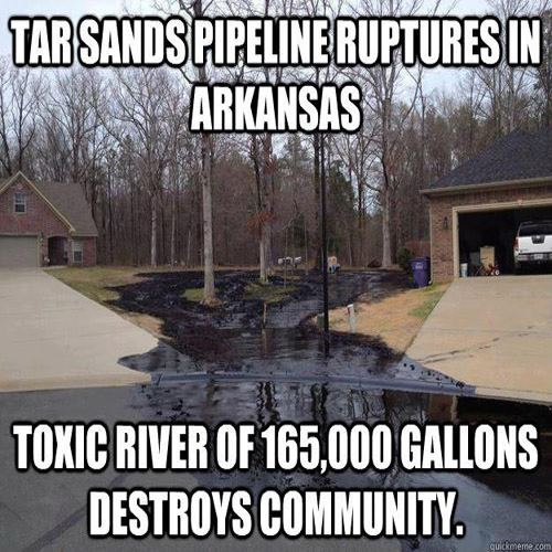 Tar Sands Pipeline Rupture Destroys Arkansas Neighborhood