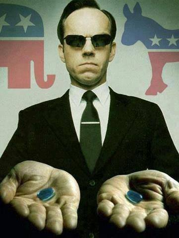 Agent Smith Offers 2 Blue Pills