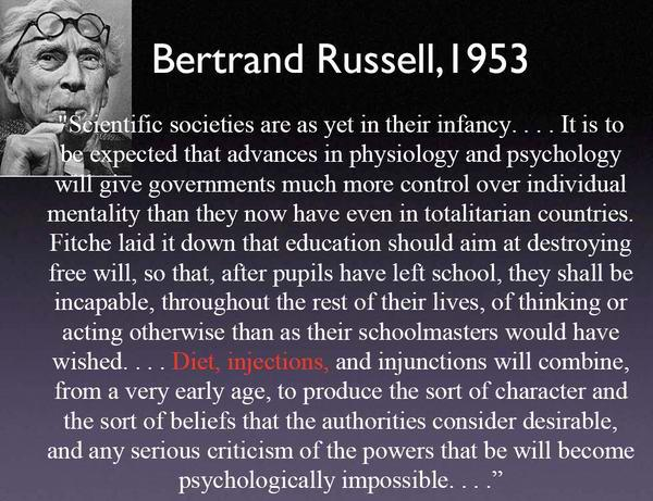 Bertrand Russell - Diet Injections Injunctions Will Make Rebellion Impossible