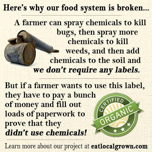 Big Agra Sprays Chemicals - NO Labels - Organic Farms Pay for Labels