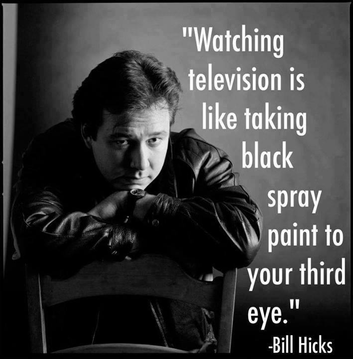Hicks - Watching TV is Taking Black Spray Paint to 3rd Eye