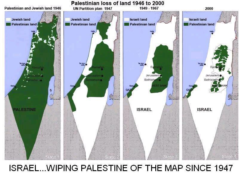 Israel Wiping Palestine Off the Map Since 1947