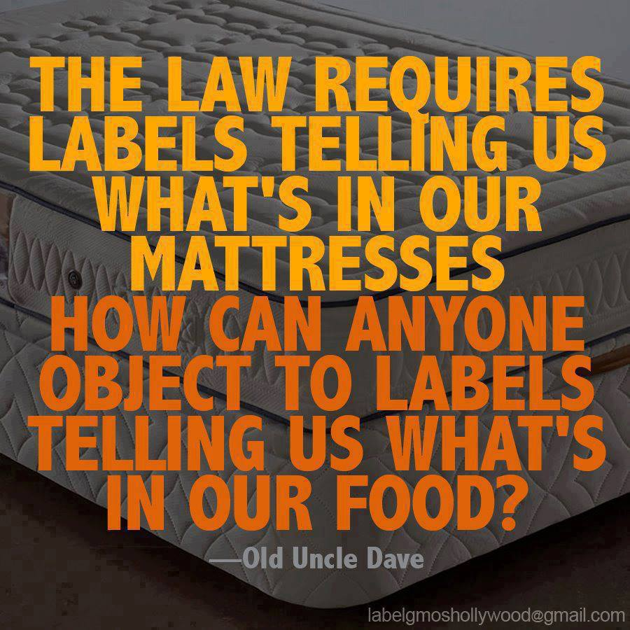 Law Requires Labels on Mattresses -- Why Not Food