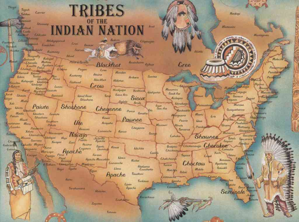 Map of Native American Tribes Before European Genocide