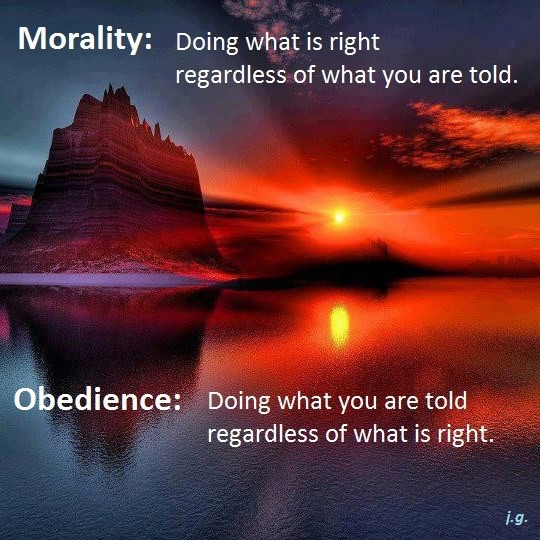Morality - Doing What is Right -- Obedience - Doing What You Are Told