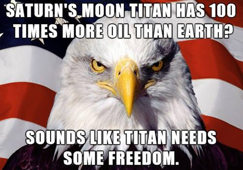 Saturns Moon Tital Has Oil -- Sounds Like Titan Needs Some Freedom