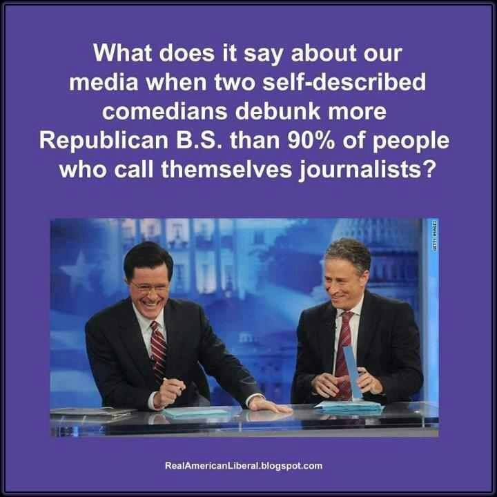 Stephen Colbert and Jon Stewart Better than 90 percent of Journalists
