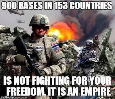 The USA Is An Empire - 900 Bases In 153 Countries
