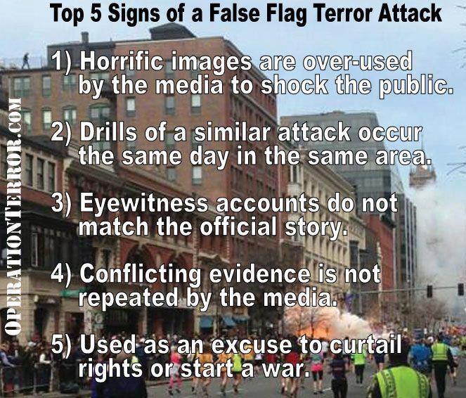 Top 5 Signs of a False Flag Terror Attack