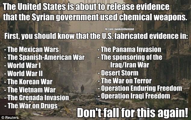 US Fabricated Evidence as Pretext for All These Wars
