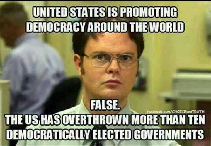 USA Has Overthrown More Than Ten Democratically Elected Governments