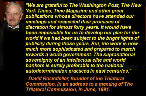 David Rockefeller Thanks Media for Keeping Cabal Plans Out of the Media Spotlight for 40 Years