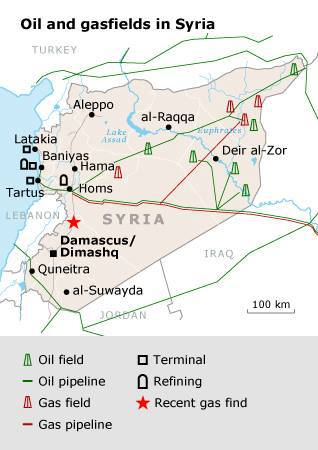 Oil and Gasfields in Syria