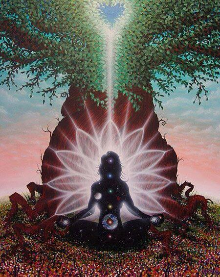 Meditator Lotus Tree Heart
