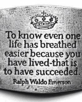 Emerson - Even one life breathed easier