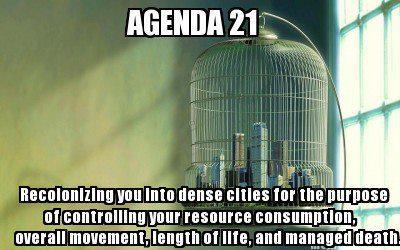 Agenda 21 - Bird Cage - Relocating Humans into Dense Cities to Control Them
