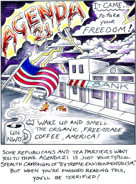 Agenda 21 -- It Came to Take Your Freedom Comic Book Cover