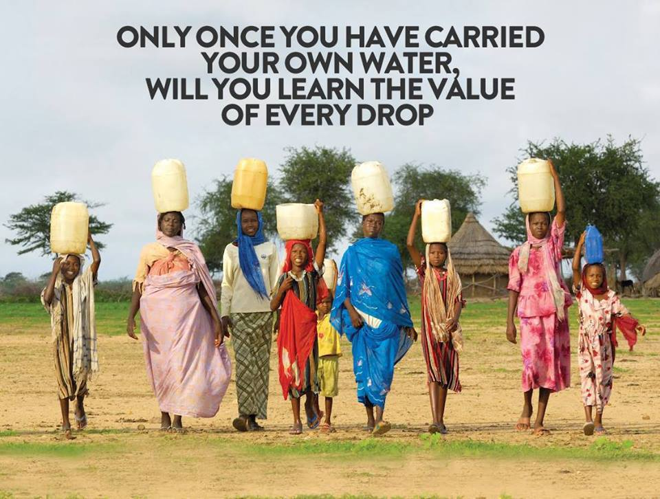 Only Carrying Your Own Water Will Teach You the Value of Every Drop