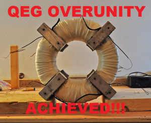 QEG Overunity Achieved - Woohoo