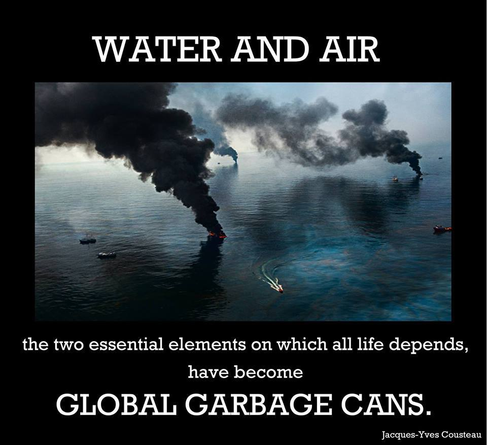 Water and Air Have Become Global Garbage Cans