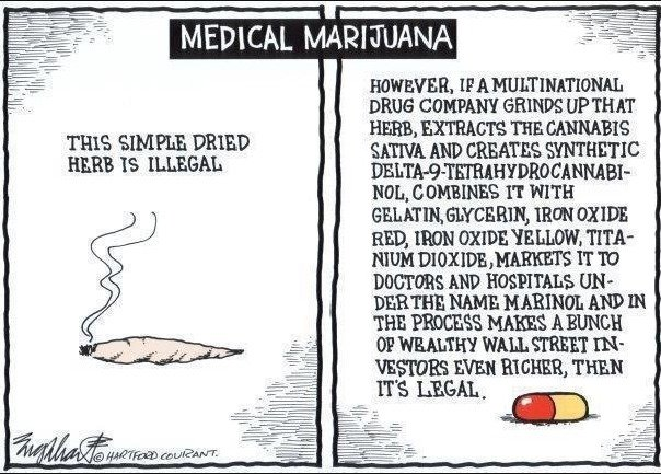Medical Marijuana Illegal Unless Big Pharma Makes a Profit