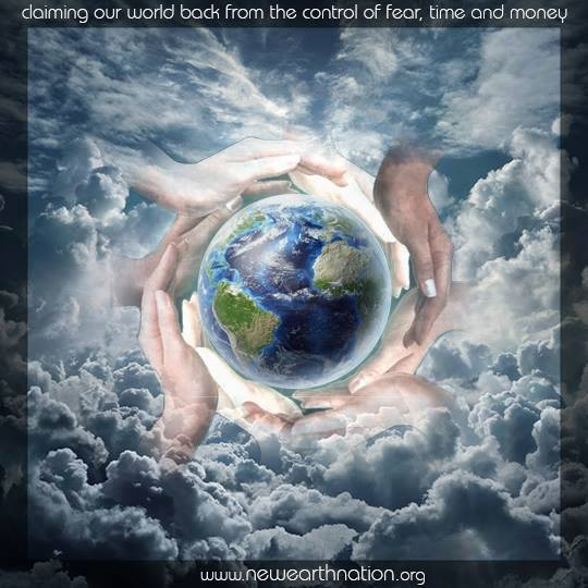 New Earth Nation - Hands Holding Earth