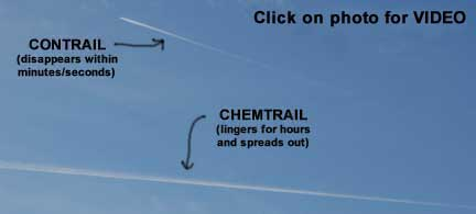 Chemtrails Photo d - Contrail vs Chemtrail