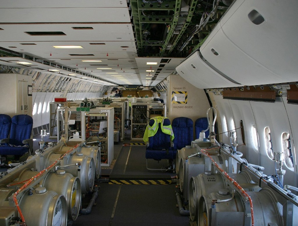 Inside a chemtrail plane a